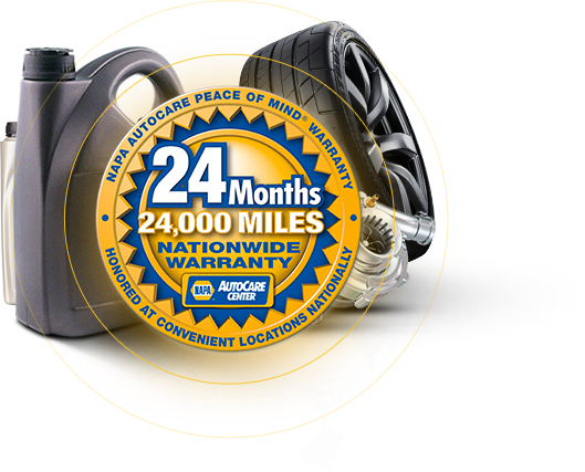 NAPA 24 months/24,000 miles | Professional Automotive Service LLC